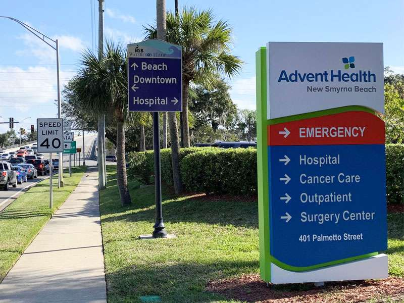 Advent Health Sign in New Smyrna Beach, FL