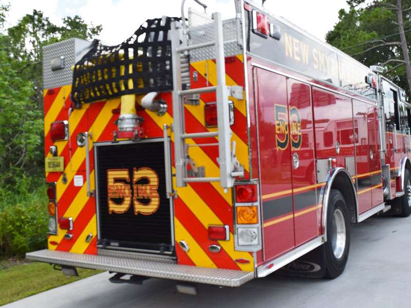 New Smyrna Beach Fire Department Fire Truck